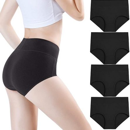 wirarpa Womens High Waist Soft Modal Underwear Full Brief Panties Multipack