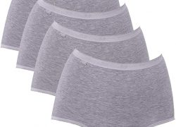 SLOGGI Womens Basic+ Cotton Rich Maxi Brief 4 Pack Black, White, Grey or Skin