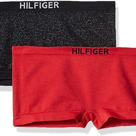 Tommy Hilfiger Womens 2pk Wide Elastic Seamless Boyshort